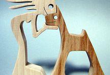 parejas en maderas