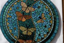 Buttefly Mosaic Table