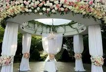 Wedding ceremony decorations!