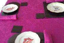 Ideas para #decorarmesas / Tus mesas ya preparadas con nuestras vajillas y bajoplatos de pizarra.