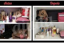 Antes e Depois - Closets e Guarda Roupas / Aqui você vai acompanhar um pouco do resultado do nosso trabalho!