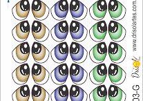 Moldes de ojos