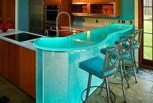 Allied's Thinkglass Counters / Beautiful Glass Counter Tops, Tables and Decor