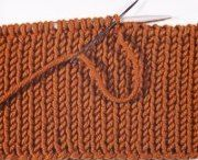 Knitting - Cast off / Casting off with sewing needle