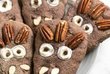 Halloween Treats: Healthy & Vegan / Healthy halloween snacks and recipe ideas. All vegan and mostly refined sugar free and gluten free.
