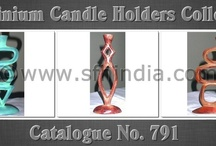 Aluminium Antique Candle Holders / Cataloue No. 791 contains Aluminium Candle Holders in various finishes like green,rusty,pwoder coated,shiny polish,brass plated,copper antique & many other finishes as per our client requirements. Providing a graceful touch to the interiors, our aluminum candle stands comes with unmatched styles & beautiful designs. Traditionally crafted, these candle stands suit the taste of every customer. We are manufacturer of aluminum candle holders. These aluminum candle holders represents the true depicti