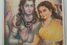 Shiva in vintage bazaar art