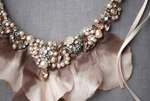 Crystals,laces,perls