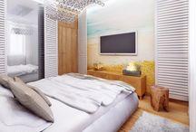 ARANŻACJE WNĘTRZ Z INSPIRACJAMI Z NATURY / Projekt sypialni w mieszkaniu jako wspomnienie wakacji – Tissu. Ciepłe drewno otula przestrzeń nadając sypialni przytulny klimat sprzyjający relaksowi. Widok na morze i wyjście wprost na plażę z łóżka poprzez otwarte okiennice... http://www.tissu.com.pl/zdjecia/344