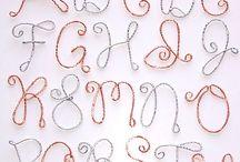 Letter beading