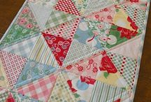 Table runners, toppers, mug rugs and placemats