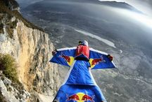 Extreme Wingsuiting skydiving