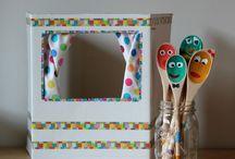 DIY Theater & Puppet Crafts / Teatrillo y Marionetas / Ideas creativas para crear teatrillos y marionetas para nuestros peques...