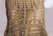 saias de crochet