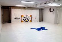 Hockey Dryland training / Create a space anywhere to keep up with your pick and shot skills. No need for cold weather and ice. SnapSports Dryland can snap together and creat small or large training areas for hockey athletes