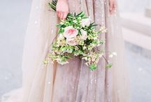 Wedding dress details & decor