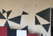 Triangle Wall / It's easy to make your walls incredible! All you need is tape, paint and imagination!