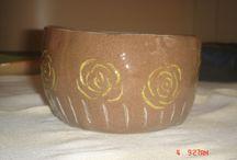 ceramicas - aprendizado / peças feitas em aula - técnicas, argilas e formatos diversos.