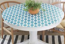 round mozaic table tops