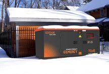 Generadores Diesel Insonorizados Genergy / Los generadores diesel insonorizados Genergy tienen la fiablidad de funcionar a 1500rpm y suministran potencias entre 10 y 14 KVA para generadores monofásicos o 20 y 275 KVA en el caso de trifásicos.