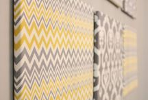 Bedroom inspirations- yellow and gray