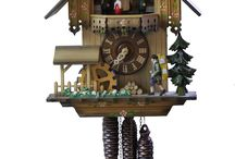 Cuckoo Clocks / Made in Germany Popular Black Forest Cuckoo Clocks Collection at http://goo.gl/Rauw0K / by Ernst Licht Embroidery and Imports