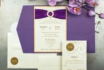 Purple & Gold Orchid Wedding / Inspiration for a beautiful purple & gold orchid wedding.