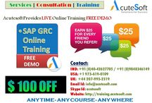 SAP GRC Online Training by AcuteSoft with 10+ years SMEs.