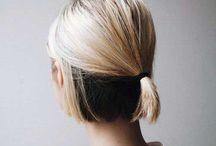 Hair - blonde, white