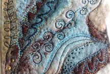 Textile Art Inspiration / examples of textile art to admire and to inspire me!