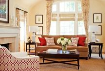 warm and cozy living room / Neutral and timeless decor with a pop of color / by Meghan Fuss