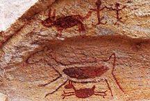 Primitivismo no Brasil / Arte Rupestre: pré história brasileira. Representações artísticas pré históricas |  Prehistoric artistic representations in Brazil.
