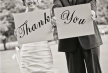 Wedding-Thank you cards, invitations and banners / Searching the web and creating ideas for creative and trending ways to say thank you after you wedding day.
