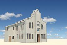 iglesias de dios valle de benediction / church under construction on the island st Eustatius