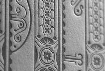 Design : Letterpress / Design with letterpress printing in mind
