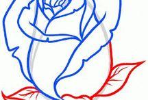 rozen tekenen