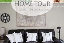 Summer Home Tours / Summer decorating ideas for around the house; summer mantels, summer entryways, summer kitchens and more
