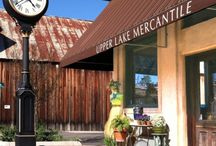 Our Mercantile Store / Located in downtown Upper Lake, our store offers beautiful and useful items for home, garden and body. From jewelry to jams, paintings to plants, furniture to ferns, many items are locally made or sourced.  / by Tallman Hotel & Blue Wing Saloon