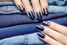 Uñas vaqueras - Denim nails