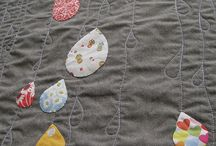 Raindrop Quilt / Inspiration board for Full Sized Raindrop Daybed Quilt