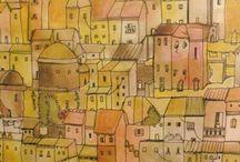 şehir çizimleri