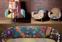 Telas -tapicería- texturas-trapillo / Telas y elementos opcionales para dar el terminado a muebles