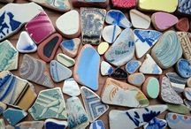 Beach Combing finds and makes / Our beaches are great places for collecting items to feed our creativity. Sometimes driftwood, sometimes sea glass or pottery,  and all sorts of interesting things wash up on the shore.