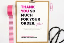 thank you card business
