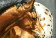 paarden geschilderd, div kunstenaars
