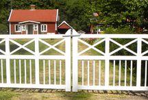 Grind och staket