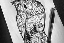 my work / Tattoo illustration darwing