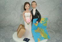 Inspiration - voyage / travel wedding topper