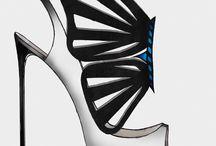 fashion shoes design sketches