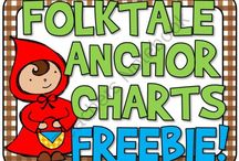 Reading: Folktales, Fairytales, Fables / Folktales, Fairy tails, and Fables lessons, anchor charts, ideas, freebies, activities, and games for 2nd, 3rd, and 4th common core.
